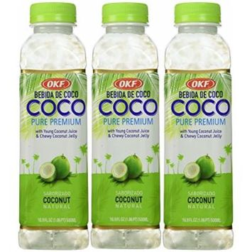 Coco 100% Natural Original Coconut Drink (With Pulp) - 16.9fl Oz (Pack of 3)