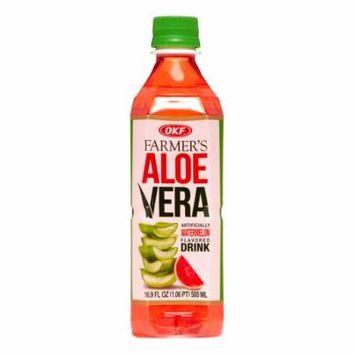 OKF Farmers Aloe Drink, Watermelon, 16.9 Fl Oz