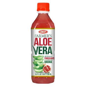 OKF Farmer's Pomegranate Aloe Drink 16.9 oz Plastic Bottles (Pack of 12)