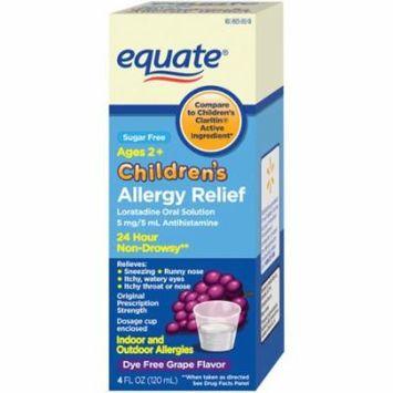 Equate Children's Allergy Relief Grape Liquid, 4 fl oz