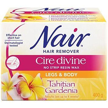2x Nair Cire Divine Microwaveable Body Hair Removal Wax Kit (Tahitian Gardenia, 400g/14oz)