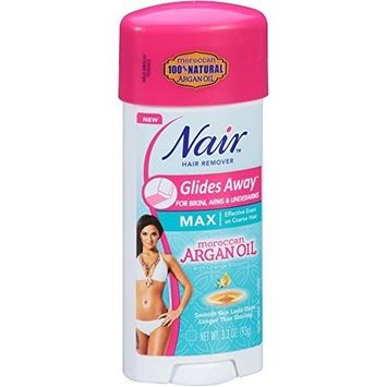 Nair Hair Remover Glides Away With Argan Oil 3.3oz (6 Pack) by Nair