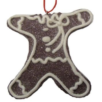 Sweet Memories Sugared Headless Gingerbread Cookie Bite Christmas Ornament