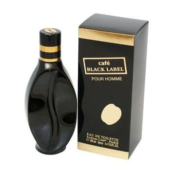 Cafe Black Label Eau De Toilette Spray for Men, 3.4 Ounce