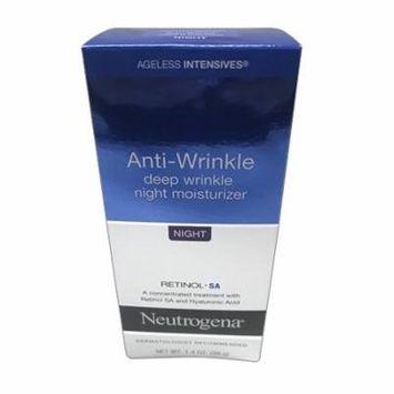 Neutrogena Ageless Intensives Deep Wrinkle Skin Night Moisture, 1.4 Oz, 2 Pack