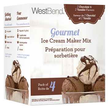 Focus Products Group West Bend Gourmet Ice Cream Maker Mix - Vanilla/Chocolate