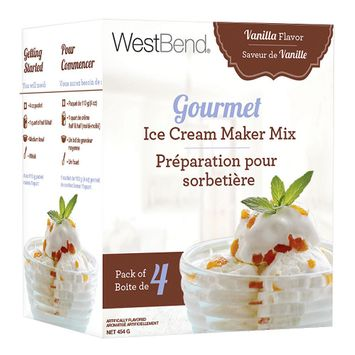 Focus Products Group West Bend Gourmet Ice Cream Maker Mix Vanilla