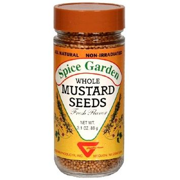 Spice Garden Mustard Seed, Whole, 3.1-Ounce Jar (Pack of 8)