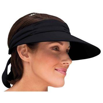 Aswechange No Headache Visor, One Size, Black