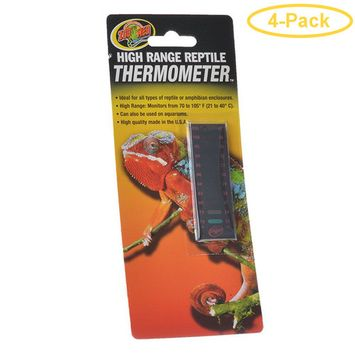 Zoo Med High Range Reptile Thermometer 70-105 Degrees F - Pack of 4