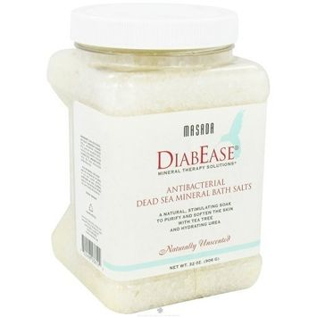 MASADA HEALTH AND BEAUTY Diabese Mineral Bath Salts Unscented 2 Pounds