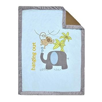 Koala Baby Jumbo Blue Hanging Out Elephant Blanket