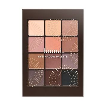 Hatchbeauty Products FOUND 12 Piece Eyeshadow Palette with Bamboo and Rice Powder, 10 Nude, 0.23 fl oz