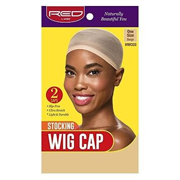 Red by Kiss Stocking Wig Cap 2pcs One Size, Beige