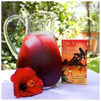 Nile Valley Herbs Pure Hibiscus 24 Tea Bags Caffeine Free Pleasant Taste Sugar Free Rich in Vitamin C May Lower Blood PressureShow More +