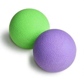 ODOLAND Set of 2 Massage Balls Massage Lacrosse Balls for Yoga Therapeutics, Trigger Point Self Massage
