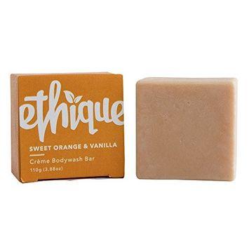 Ethique Eco-Friendly Crème Bodywash Bar, Sweet Orange & Vanilla 3.88 oz [Sweet Orange & Vanilla]