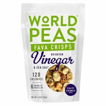 World Peas Fava Crisps Brighton Vinegar and Sea Salt Case of 6 5.3 oz.