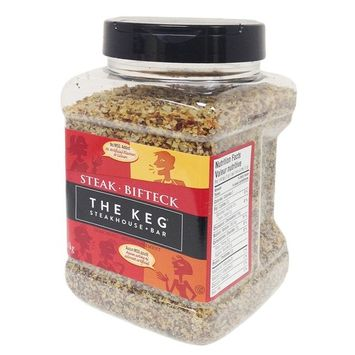 The Keg Steakhouse Steak Seasoning Gluten Free No MSG Added - 1.1kg | 38.8oz (Imported from Canada)