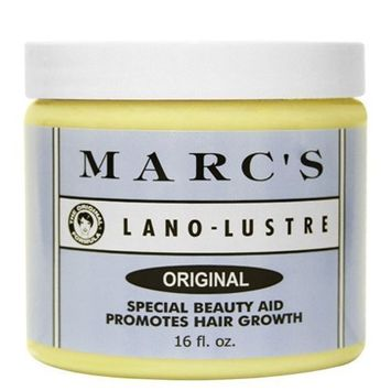 Marc's Lano-Lustre Original, Special Beauty Aid Promotes Hair Growth 16oz