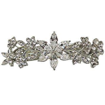 Faship Gorgeous Floral Crystal Barrette