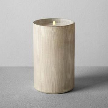 Etched Container Candle Silver 12oz - Bergamot & Mahogany - Hearth & Hand™ with Magnolia