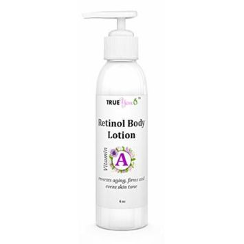 Organic Retinol Body Lotion Moisturizer - BEST Lotion with Retinol! Natural Ingredients! Dramatically Reduces Fine Lines and Wrinkles - Leaves Skin Glowing! NO Parabens, Cruelty-Free, NO Harmful Chemicals! 100%!