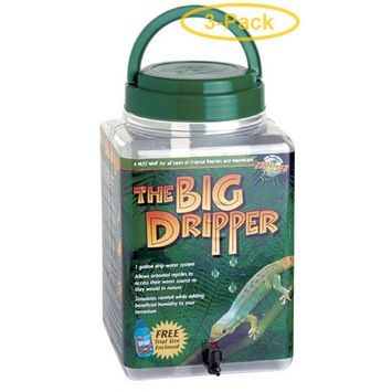 Zoo Med Dripper System The Big Dripper - 1 Gallon Drip Water System - Pack of 3