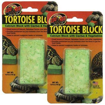 Zoo Med Laboratories SZMBB55 Tortoise Banquet Block, Net WT 5 oz, 2 Pack