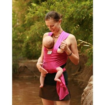 Beachfront Baby Wrap – The Versatile Mesh Water & Warm Weather Baby Carrier | Made in USA with Safety Tested Fabric, CPSIA & ASTM Compliant | Lightweight, Quick Dry & Breathable Passionberry, OS)