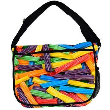 Candy Messenger Bag (Licorice)