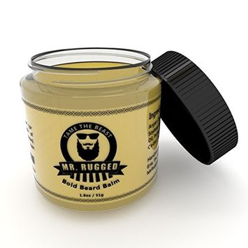 Beard Balm for Men with Sandalwood Scent &Argan and Jojoba Oils,Deep Beard Leave-in Conditioner Wax,Promotes Beard & Mustache Growth and Shine,Stop Beard Itch and Flakes,Perfect to Use with Beard Oil