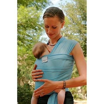 Beachfront Baby Wrap - The Original Water & Warm Weather Baby Carrier | Made in USA with Safety Tested Fabric, CPSIA & ASTM Compliant | Lightweight, Quick Dry & Breathable (Sky Blue, One-Size)