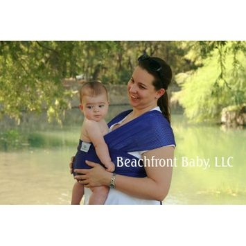 Beachfront Baby Wrap – The Versatile Mesh Water & Warm Weather Baby Carrier | Made in USA with Safety Tested Fabric, CPSIA & ASTM Compliant | Lightweight, Quick Dry & Breathable Paradise Plum, OS)