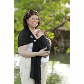 Beachfront Baby Sling - The Original Water & Warm Weather Adjustable Ring Sling Baby Carrier | Made in USA with Safety Tested Fabric & Aluminum Rings | Lightweight, Quick Dry & Breathable (One Size, M