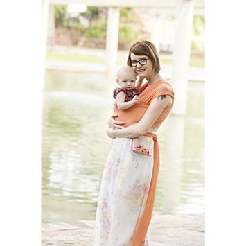 Beachfront Baby Wrap – The Versatile Mesh Water & Warm Weather Baby Carrier | Made in USA with Safety Tested Fabric, CPSIA & ASTM Compliant | Lightweight, Quick Dry & Breathable (CoralSea, Pet)