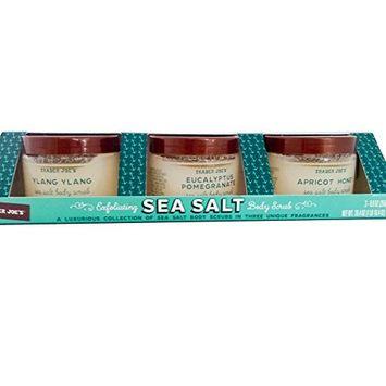 Trader Joe's Exfoliating Sea Salt Body Scrub: Ylang Ylang, Eucalyptus Pomegranate, Apricot Honey 3-8.8 oz