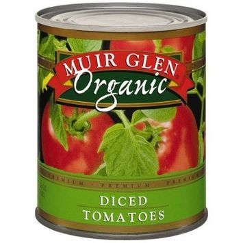 Muir Glen Canned Tomatoes, Organic Diced Tomatoes, No Sugar Added, 28 Ounce Can (Pack of 12)