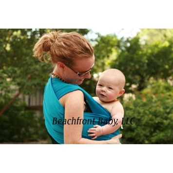Beachfront Baby Wrap - Versatile Water & Warm Weather Baby Carrier | Made in USA with Safety Tested Fabric, CPSIA & ASTM Compliant | Lightweight, Quick Dry & Breathable