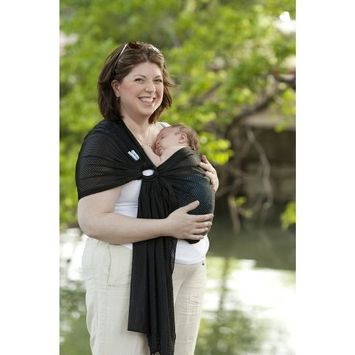 Beachfront Baby Sling – Versatile Water & Warm Weather Ring Sling Baby Carrier | Made in USA with Safety Tested Fabric & Aluminum Rings | Lightweight, Quick Dry & Breathable (X-Long, Midnight Sky)