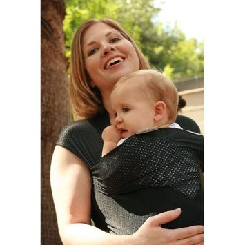 Beachfront Baby Wrap – The Versatile Water & Warm Weather Baby Carrier | Made in USA with Safety Tested Fabric, CPSIA & ASTM Compliant | Lightweight, Quick Dry & Breathable (Midnight Sky, One Size)