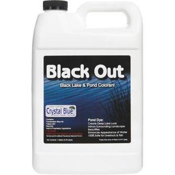 Sanco Crystal Blue Black Out Black Reflective Pond Surface Colorant; 1 Gallon