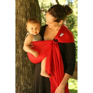 Beachfront Baby Sling – Versatile Water & Warm Weather Ring Sling Baby Carrier | Made in USA with Safety Tested Fabric & Aluminum Rings | Lightweight, Quick Dry & Breathable (X-Long, Tropical Punch)