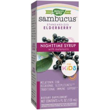 Sambucus Nighttime Syrup with Melatonin for Kid's - Standardized Elderberry (4 Fluid Ounces)