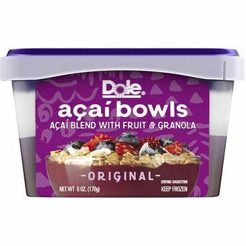 DOLE Frozen Original Acai Bowls, 6 Ounce Bowl