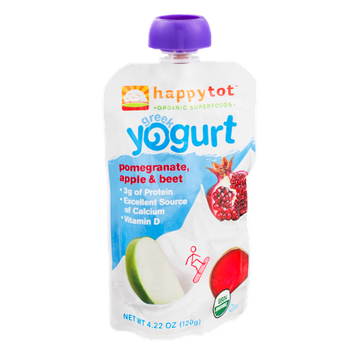 Happy Tot Organic Superfoods Greek Yogurt Pomegranate, Apple & Beet