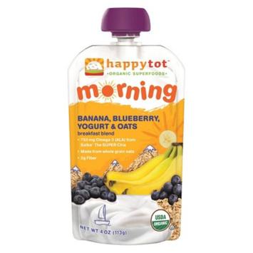 Happy Tot Organic Food Pouch - Banana, Blueberry, Yogurt, & Oats 4oz