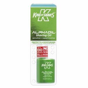 King of Shaves For Men Alpha Oil Shave OIl, Cooling Menthol for Sensitive Skin