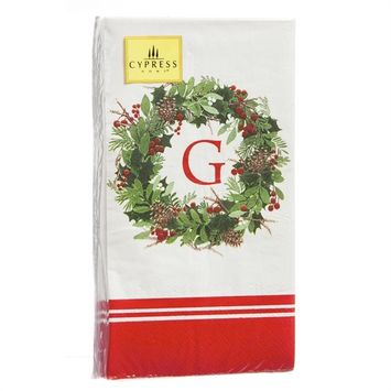 32ct, 3ply Guest Towel, Holiday Wreath, G by Evergreen