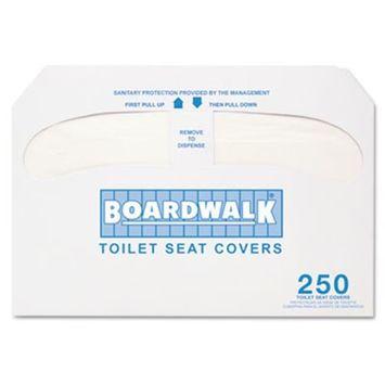 Boardwalk Toilet Seat Covers Premium Half-Fold, 250 Covers/Box, 20